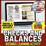 Checks and Balances Activity