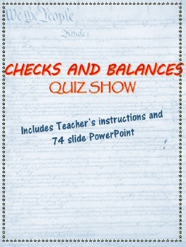 Checks and Balances Quiz Show PowerPoint