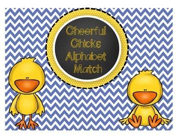 Alphabet Match Literacy Activity with Cheerful Chicks