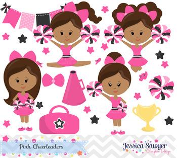 Cheerleader Clipart and Vectors or Cheerleading Clip Art D