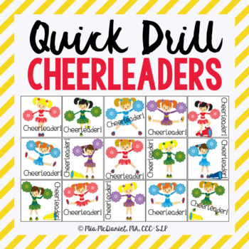 Cheerleader Quick Drill {for articulation or fluency thera