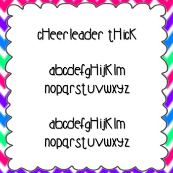 Cheerleader Thick Font {personal and commercial use; no li