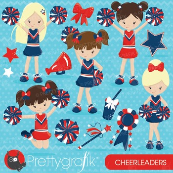 Cheerleader clipart commercial use, vector graphics, digit