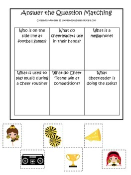 Cheerleaders (Gold and Black) themed Answer the Question p