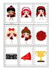 Cheerleaders (Red and Black) themed Memory Matching presch