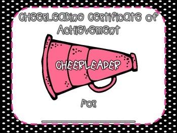 Cheerleading Certificate