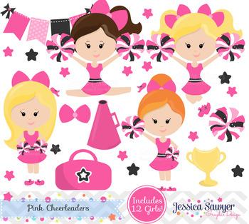 Cheerleading Clipart or Cheerleader Clip art