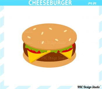 Cheeseburger Clip Art - Commercial Use Clipart