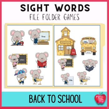 Cheesy Mouse School High Frequency Dolch Sight Word File F