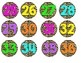 Cheeta Print and Neon Numbered Circle Labels