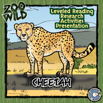 Cheetah -- 10 Resources -- Coloring Pages, Reading & Activities