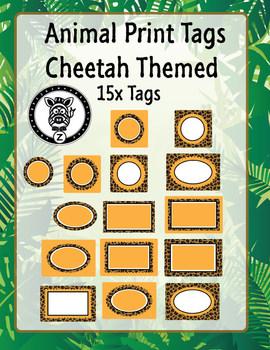 Cheetah Animal print labels
