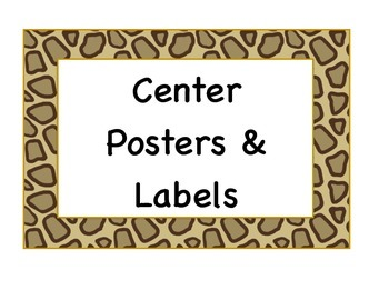 Cheetah Poster Pack