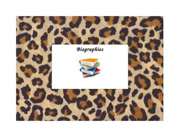 Cheetah Print Library Labels (Editable!)