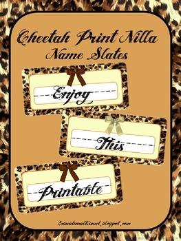 Cheetah Print Name Slates { 'Nilla }