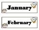 Chef Calendar! Baking Calendar! Chef Baking Bulletin Board