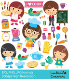 Chef Kids Digital Clip Art (ED)
