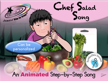 Chef Salad - Animated Step-by-Step Song - SymbolStix
