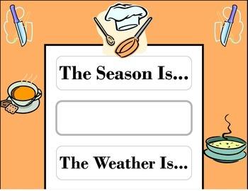Chef Weather Chart! Chef Theme! Chef Bulletin Board! Bakin