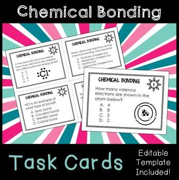 Chemical Bonding Task Cards