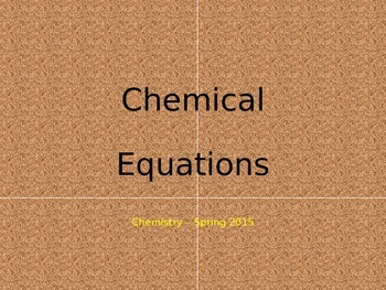 Chemical Equations PowerPoint
