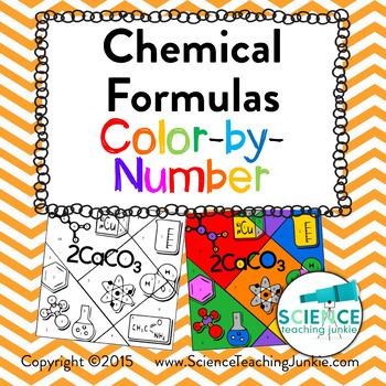 Chemical Formulas Color-by-Number TEKS 8.5D