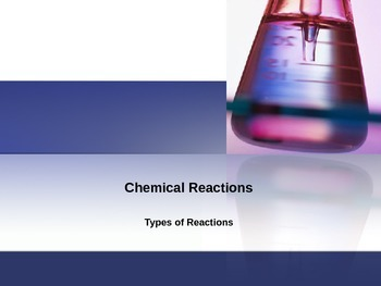 Chemical Reactions - Chemical Equations
