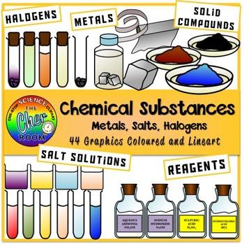 Chemical Substances Clipart (Chemical Reactions)