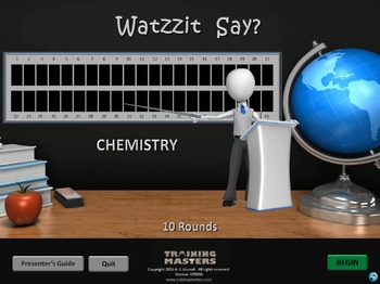 Chemistry - A Watzzit Say? Game