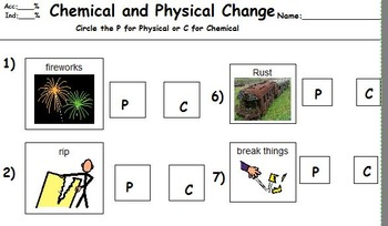 Chemistry: Chemical and Physical Changes Adapted for Stude