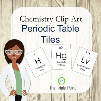 Chemistry Clip Art: 118 Periodic Table Tiles (including at