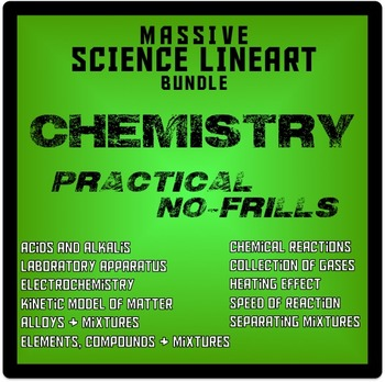 Chemistry Clipart (Lineart Bundle)