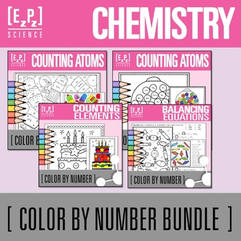 Chemistry Color By Number Bundle
