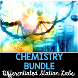 Chemistry - Differentiated Science Stations Bundle - 7 Stu