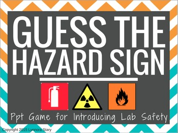 Science Lab Safety -Hazard Sign Posters- PowerPoint Game (