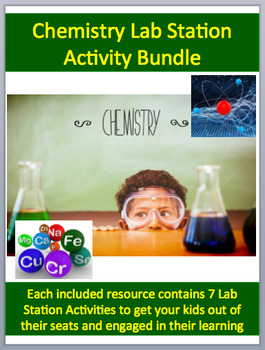 Chemistry Lab Station Activity Bundle-12 Included -Engagin