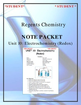 Chemistry Note Packet - Unit 10: Electrochemistry (Redox)