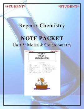 Chemistry Note Packet - Unit 5: Moles & Stoichiometry
