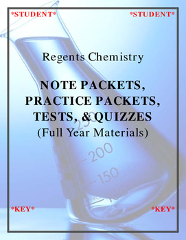 Regents Chemistry - Notes, Practice, Quizzes & Tests (Full