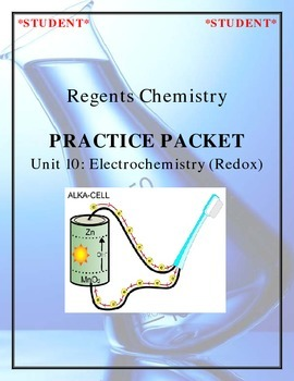 Chemistry Practice Packet - Unit 10: Electrochemistry (Redox)