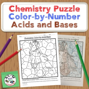 Chemistry Puzzle: Color by Acids/Bases: Weak and Strong Ac