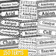 150 Chemistry Vocabulary Word Wall Terms or Flash Cards, T