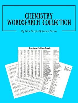 Chemistry Word Search Bundle