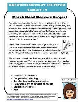Chemistry and Physics: Match Head Rockets