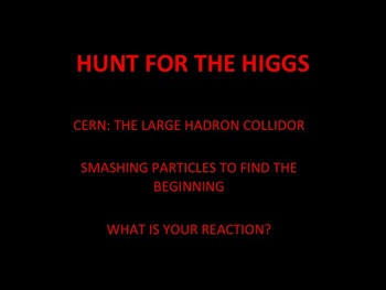 Chemistry or Physics: Large Hadron Collider Reaction Paper