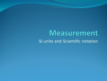 Chemistry powerpoint: Measurement, density, and significan