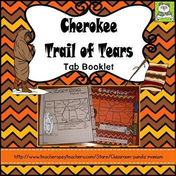 Cherokee Trail of Tears Tab Booklet