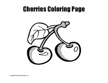 Cherries Coloring Page
