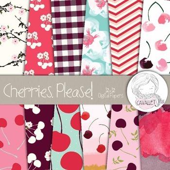 Cherries - Digital Papers