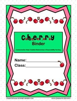 Cherry {Baking Theme} Binder Cover